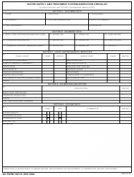 DA Form 7487-r Water Supply and Treatment System Inspection Checklist