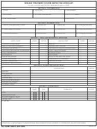 "DA Form 7488-R ""Sewage Treatment Systems Inspection Checklist"""