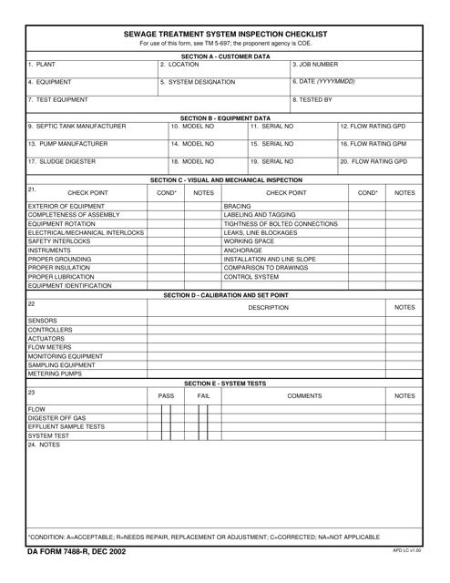 DA Form 7488-R  Printable Pdf