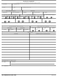 DA Form 8015-r Filth Fly Survey