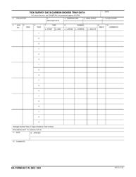 DA Form 8017-r Tick Survey Data, Carbon Dioxide Trap Data
