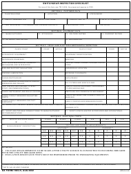 "DA Form 7465-r ""Switchgear Inspection Checklist"""