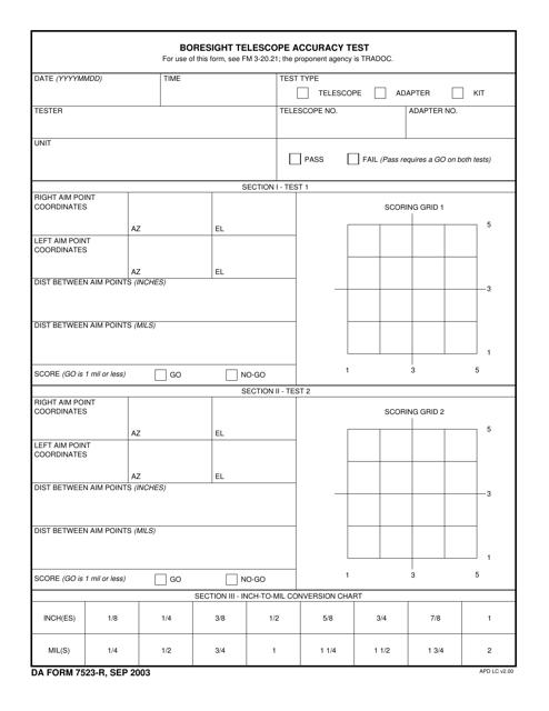 DA Form 7523-r  Printable Pdf