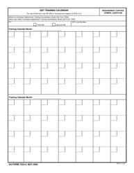 DA Form 7534-2 Odt Training Calendar