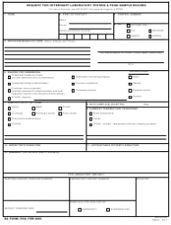 DA Form 7539 Request for Veterinary Laboratory Testing & Food Sample Record