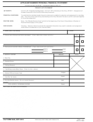 DA Form 5425 Applicant/Nominee Personal Financial Statement