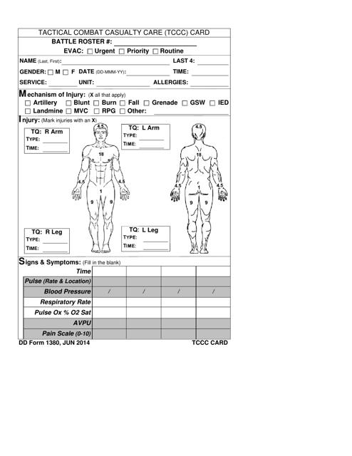 DD Form 1380 Printable Pdf