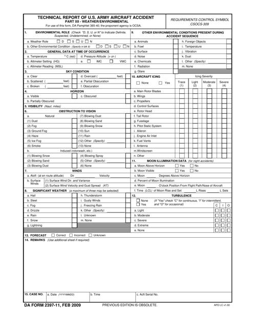 DA Form 2397-11 Fillable Pdf