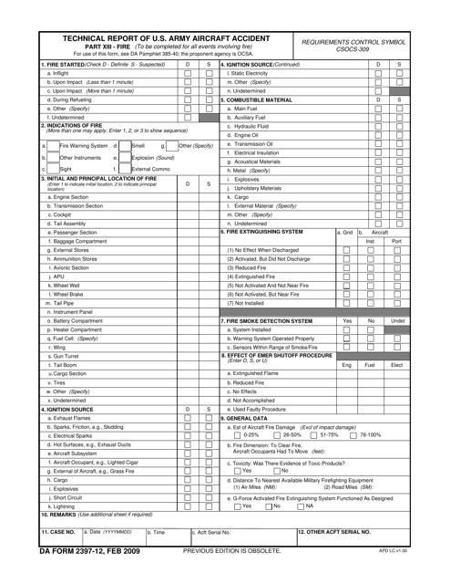 DA Form 2397-12  Fillable Pdf