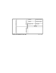 DA Form 2677-r United States Army Civilian Internee Identity Card, Page 2
