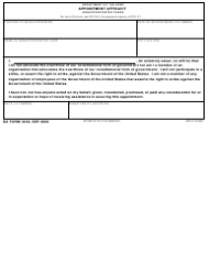 DA Form 3436 Department of the Army Appointment Affidavit - Nonappropriated Funds