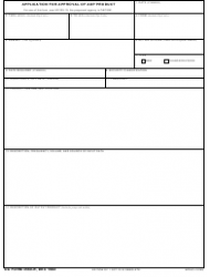DA Form 4560-r Application for Approval of Adp Product
