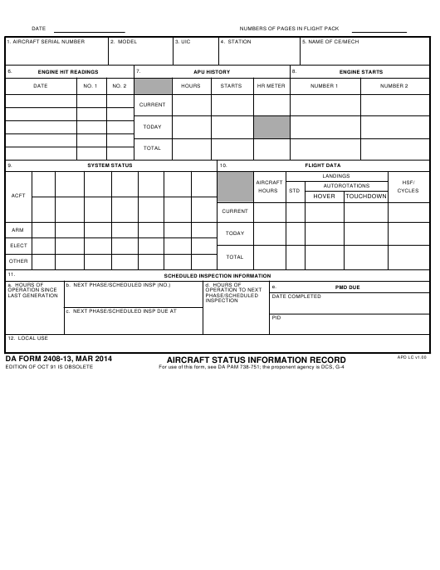 DA Form 2408-13  Printable Pdf