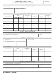 DA Form 5755-1 Consignment Control Sheet