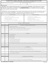 DA Form 5440-57 Delineation of Clinical Privileges - Psychiatric Advanced Practice Nurse