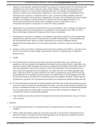 DA Form 5756 Concessionaire Contract-Short Term (Nonappropriated Funds), Page 2