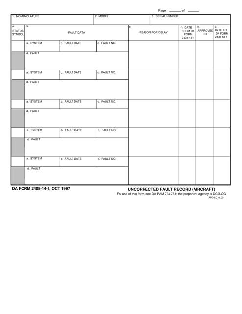 DA Form 2408-14-1 Printable Pdf