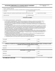DA Form 4927-r Physicians Comparability Allowance Service Agreement