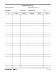 DA Form 4084-R Investment Register