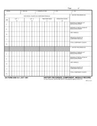 DA Form 2408-16-1 History Recorder, Component, Module Record