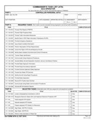 DA Form 3479-12 Commander's Task List (Ats) Gca Operator