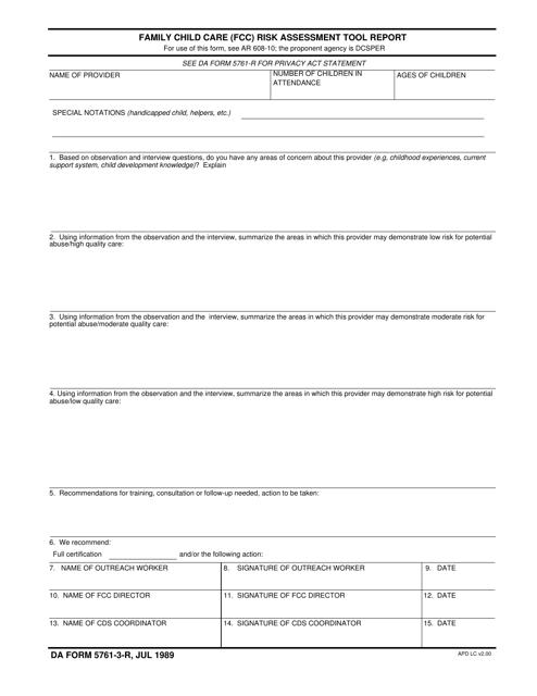 DA Form 5761-3-r Fillable Pdf