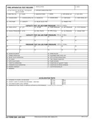 DA Form 5380 Fire Apparatus Test Record