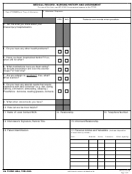 DA Form 3888 Medical Record - Nursing History and Assessment