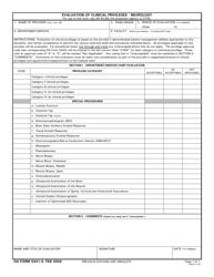 DA Form 5441-4 Evaluation of Clinical Privileges - Neurology