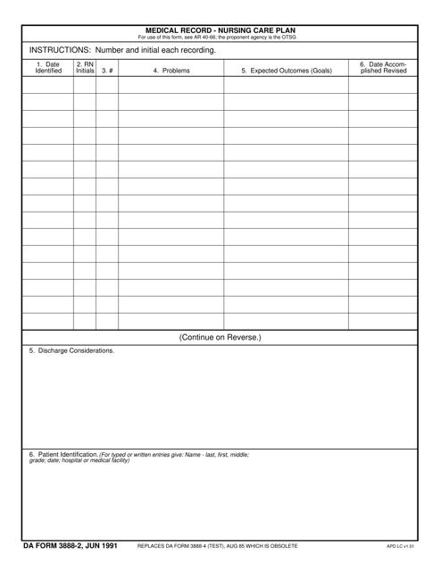 DA Form 3888-2  Printable Pdf