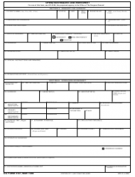 DA Form 4107 Operation Request and Worksheet