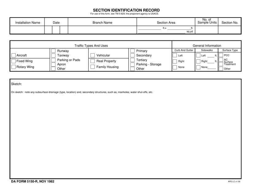 DA Form 5150-r Fillable Pdf