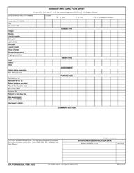 DA Form 5569 Isoniazid (Inh) Clinic Flow Sheet