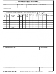 DA Form 4153-r Equipment Survey Work Sheet