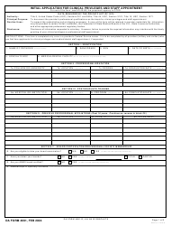 DA Form 4691 Initial Application for Clinical Privileges and Staff Appointment