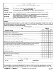 DA Form 7595-1-15 Apply a Traction Splint