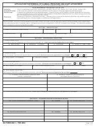 "DA Form 4691-1 ""Application for Renewal of Clinical Privileges and Staff Appointment"""