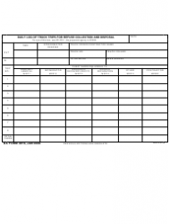 DA Form 3916 Daily Log of Truck Trips for Refuse Collection and Disposal