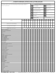 DA Form 4160  Fillable Pdf