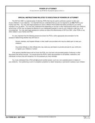 DA Form 5841 Power of Attorney