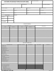 DA Form 2978 Container and Dunnage Fabrication Work Order
