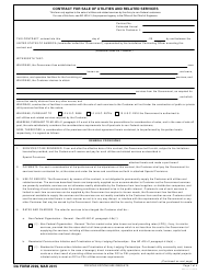 DA Form 2099 Contract for Sale of Utilities and Related Services