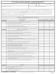 DA Form 5441-15 Evaluation of Clinical Privileges - Certified Nurse Midwife