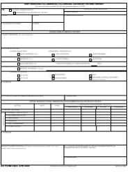 DA Form 2984 Very Seriously Ill/Seriously Ill/Special Category Patient Report