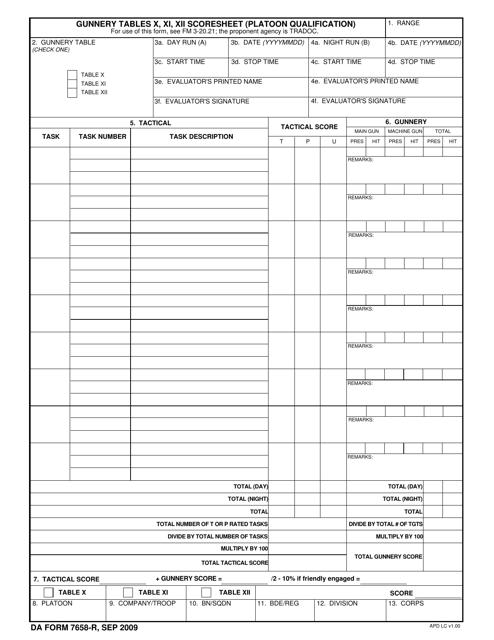 DA Form 7658-R Fillable Pdf