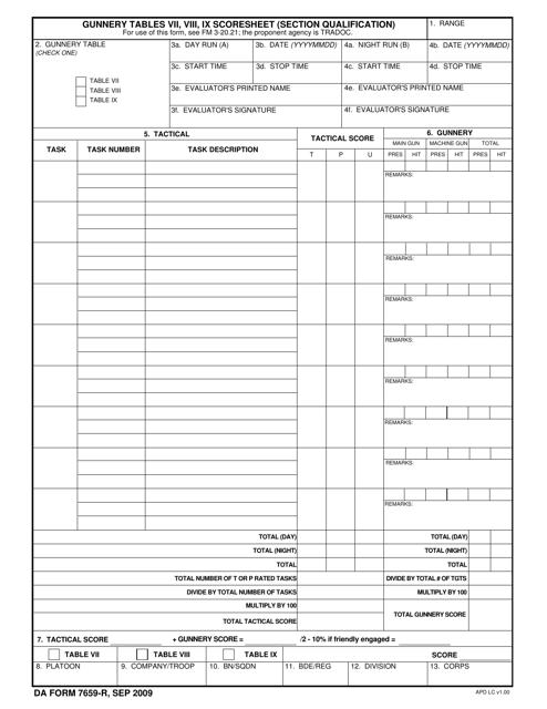 DA Form 7659-R  Printable Pdf
