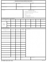 DA Form 7348-R Unsurfaced Road Inspection Sheet (Lra)