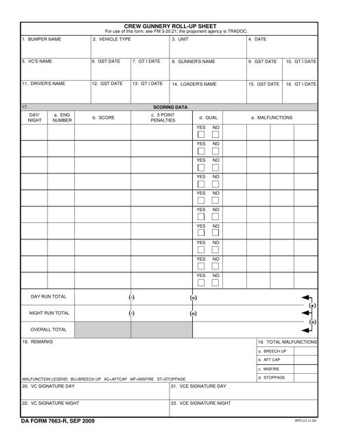 DA Form 7663-R Printable Pdf