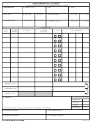 DA Form 7663-R Crew Gunnery Roll-Up Sheet