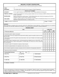 DA Form 7595-2-11 Measure a Patient's Respiration